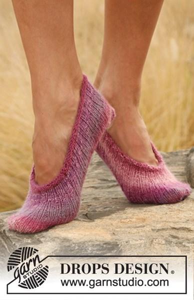 Breipatroon pantoffels.