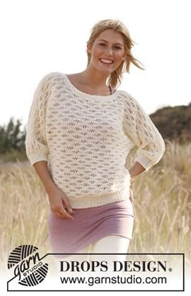Gebreide trui met kantpatroon van ....