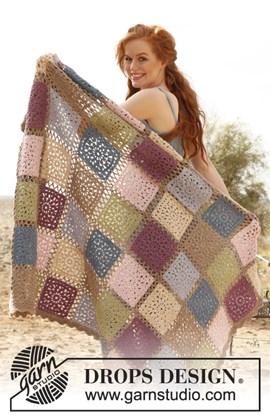 Gehaakte deken met vierkantjes van Lima.