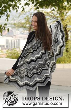 Omslagdoek met zigzag patroon