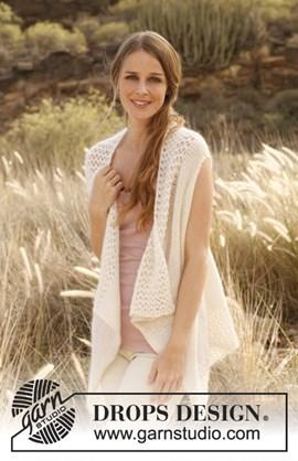Gebreid mouwloos vest van Alpaca en ....