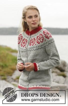 Gebreid vest met Noors patroon.