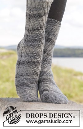 Sokken met verschuivend patroon.
