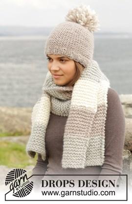 Gebreide muts en sjaal