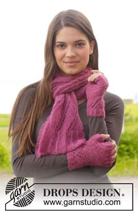 Gebreide sjaal en polswarmers