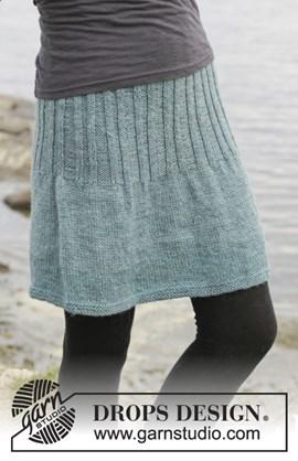 Gebreide rok in tricotsteek