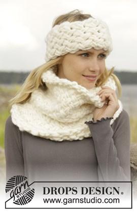 Gebreide hoofdband en halswarmer