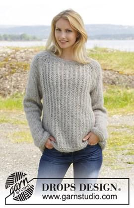 Gebreide trui met raglan