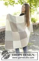 Gebreide deken met vierkanten