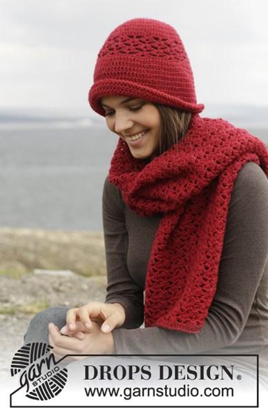 Haakpatroon Gehaakte sjaal en muts