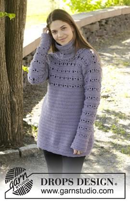 Gehaakte trui met losse col