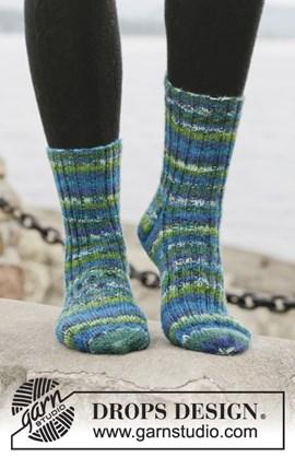 Gebreide sokken met boordsteek van Fabel. Maat 15 - 46