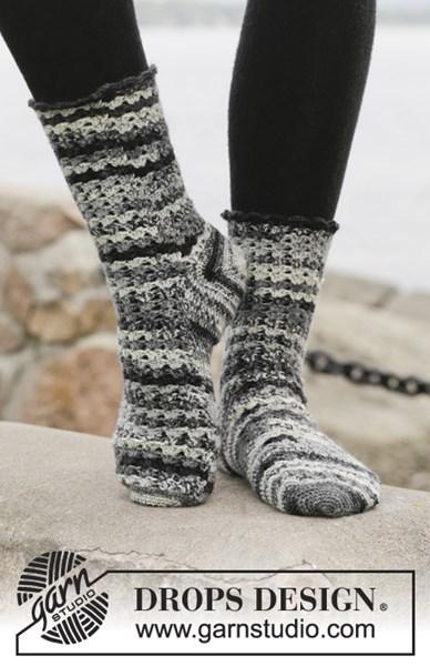 Haakpatroon Gehaakte sokken, van boven naar beneden gehaakt van Fabel. Maat 37-4