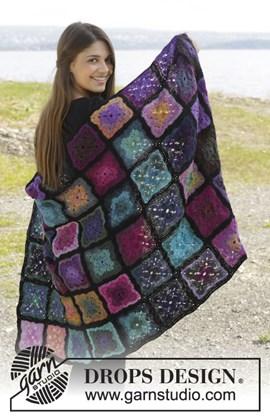 Gehaakte deken met oma vierkantjes van Delight en Fabel