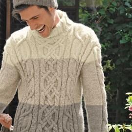 Bergere de France Warme trui met bijpassende muts.