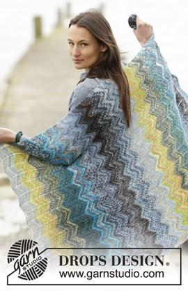 Gebreide deken met strepen en zigzags