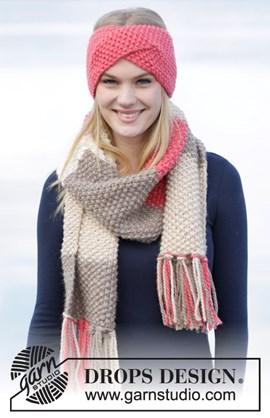 Gebreide hoofdband en sjaal