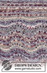 Breipatroon Trui met golvenpatroon van andere kant