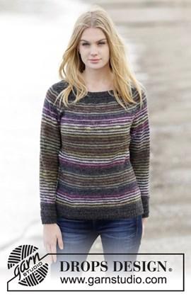Getailleerde trui met strepen