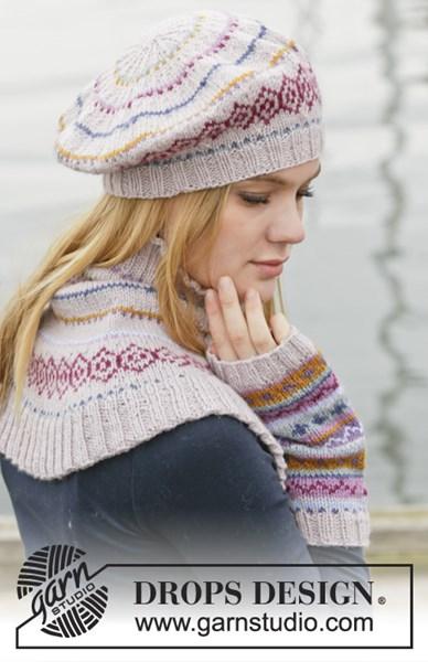 Breipatroon Gebreide baret, halswarmer en polswarmers