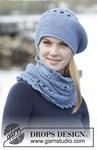Haakpatroon Gehaakte baret en halswarmer  van andere kant