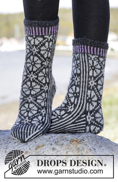 Breipatroon Sokken met Noors patroon