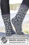 Breipatroon Sokken met Noors patroon van andere kant
