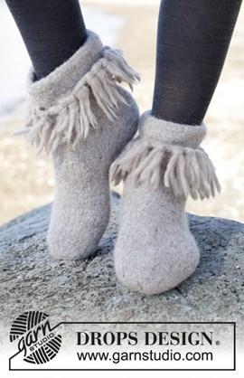 Gevilte sloffen met franjes van Eskimo ....