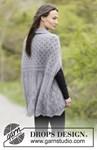 Breipatroon Gebreid vest met sjaalkraag van andere kant
