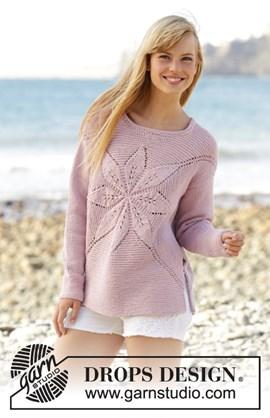Gebreide trui met een bloem