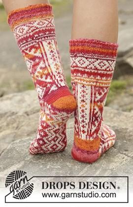 breipatroon sokken met noors ....