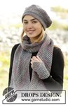 Breipatroon Baret, sjaal en polswarmers van andere kant