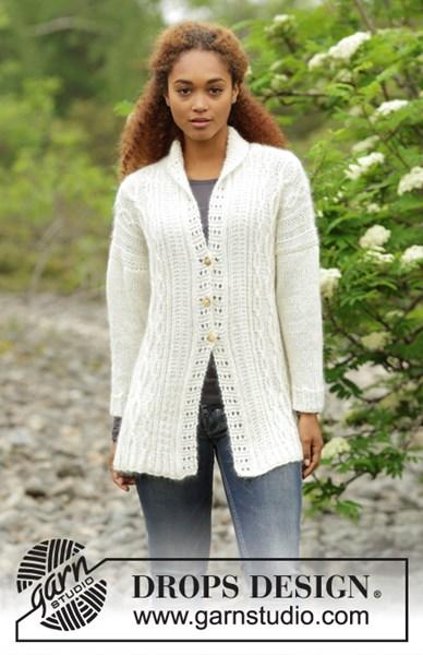 Breipatroon Dames vest met sjaalkraag