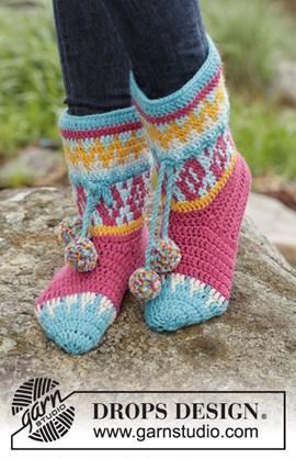 Wat een vrolijke sokken, gemaakt van ....