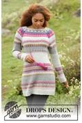 Gebreide jurk met veelkleurig patroon, ....
