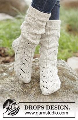 Gebreiden sokken met kabels van het ....
