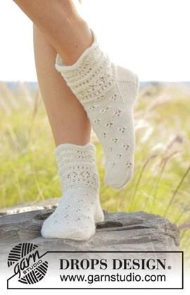 Breipatroon sokken met ajourpatroon van ....