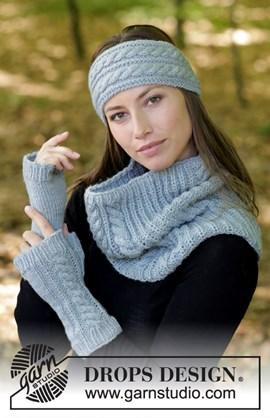 haarband, halswarmers en vingerloze handschoenen