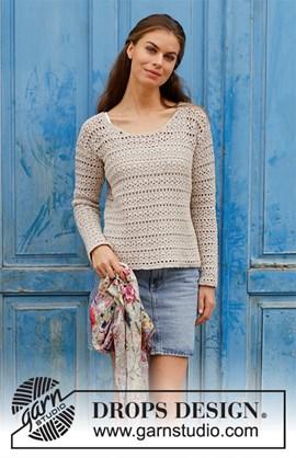 Haakpatroon trui met kantpatroon. Het ....