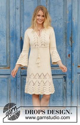 Breipatroon jurk met kantpatroon en ¾ ....