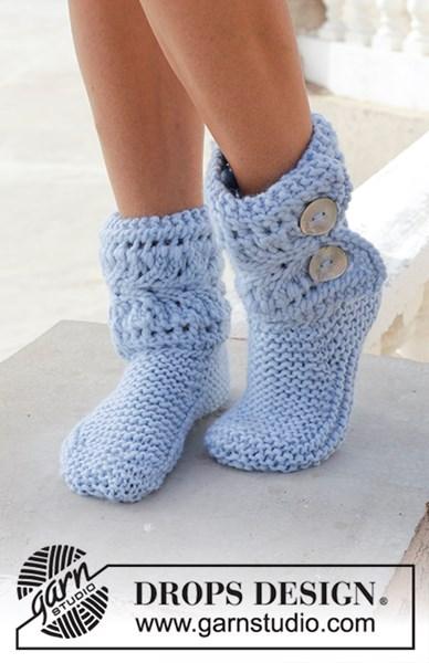 Breipatroon pantoffels