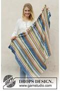 Haakpatroon deken in gekleurde strepen ....