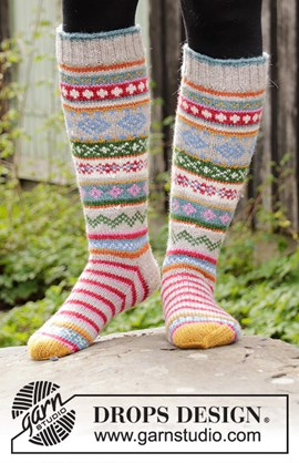 Breipatroon winter carnival socks, ....