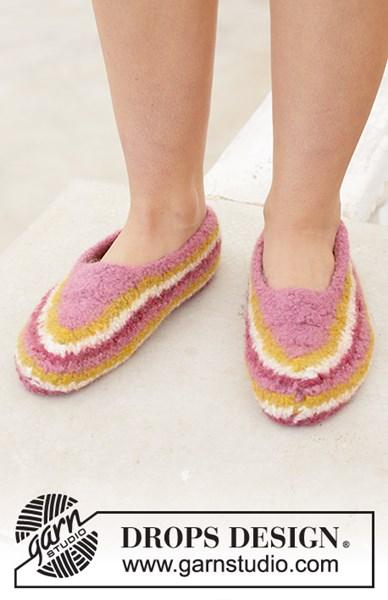 Viltnaald patroon Dames pantoffels