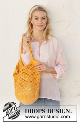 Haakpatroon tas, gemaakt van Drops ....