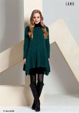 Gebreiden trui in jurk model.