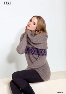 Gebreiden trui met jacquard patroon.