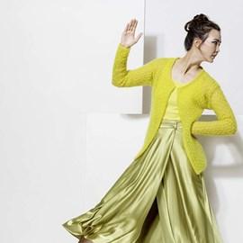 lang Yarns Lang Yarns breipatroon aansluitend damesvest van het fijne garen Mohair Luxe.
