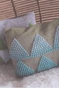 Haakpatroon voor 2 kussens, gemaakt van ....