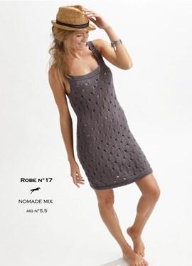 Breipatroon jurk met ajoursteek van het ....